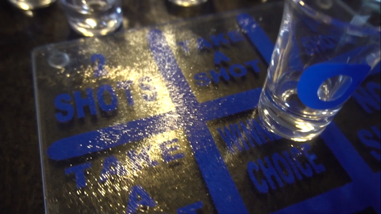How to Create a Drunken Tic Tac Toe (Cricut)