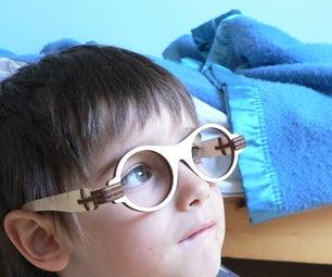 Laser Cut Foldable Wooden Glasses