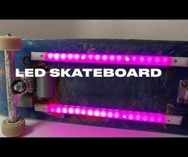 LED Skateboard Rubiks Cube