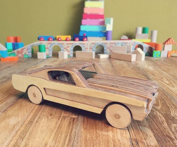 Wooden Toy Car Ford Mustang