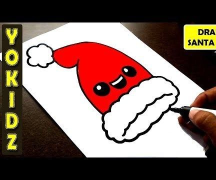 HOW TO DRAW SANTA HAT EASY
