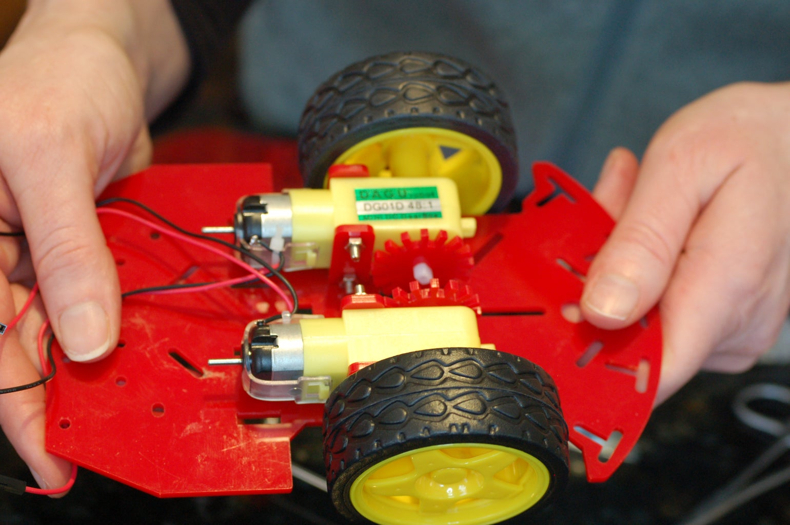 Attach Encoders and Wheels