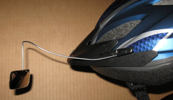Helmet Mounted Rear View Mirror