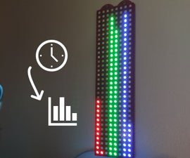 Bar Graph Clock IOT (ESP8266 + 3D Printed Case)