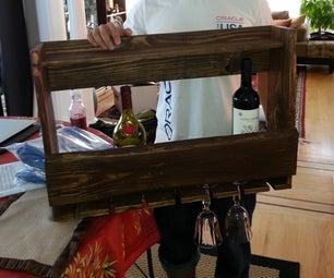 Wine Rack Using Reclaimed Wood