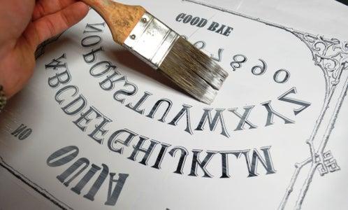 Making the Ouija Board - Printing Onto Wood