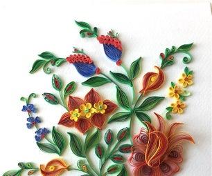 """""""Fantasy Flowers"""" Quilling Design"""