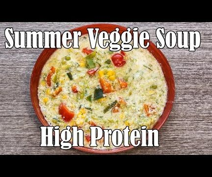 High Protein Vegetarian Soup - Cheap & Easy