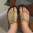 Refashioned Knot Flip Flops