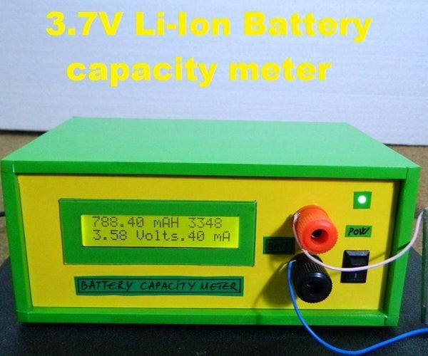Easy Lithium Battery Capacity Tester
