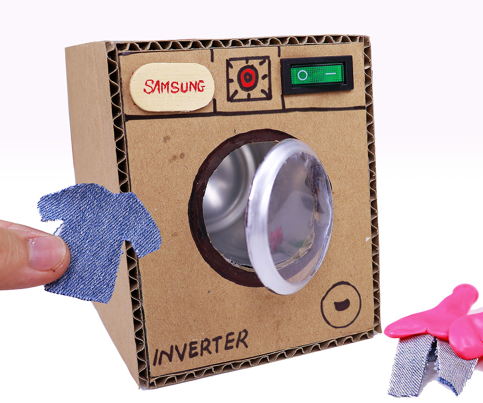 Make Washing Machine From Cardboard