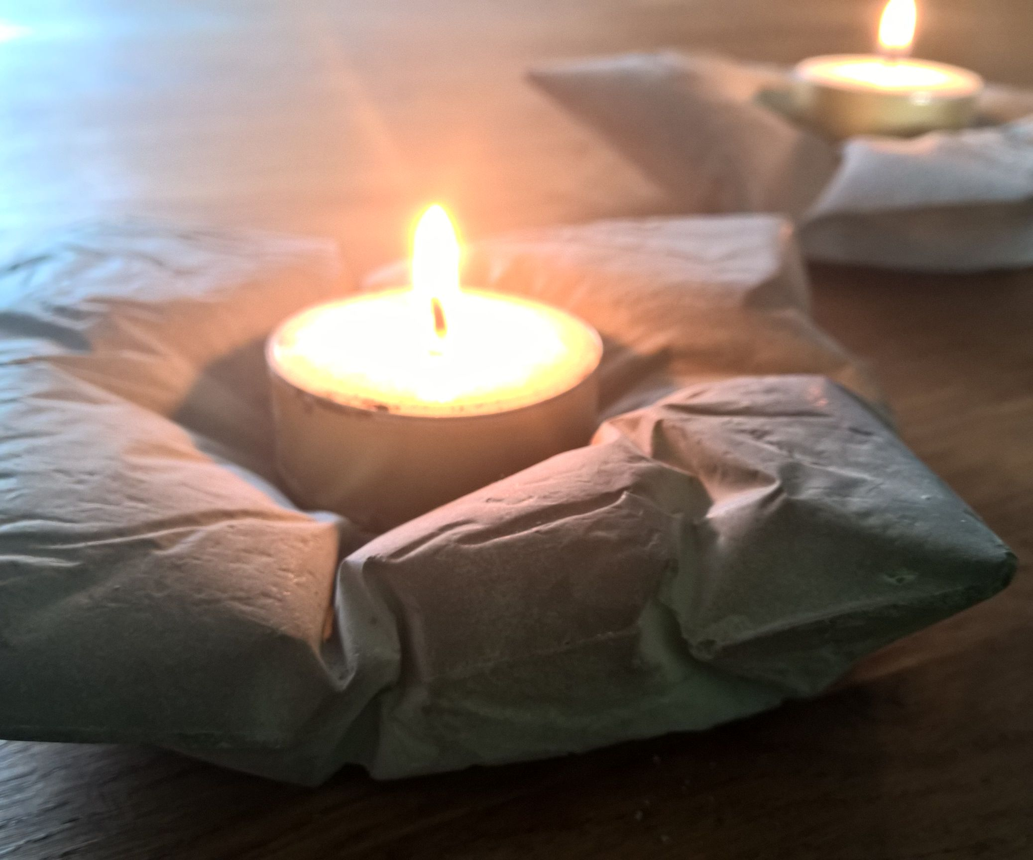 Concrete Pillow Candle Holders