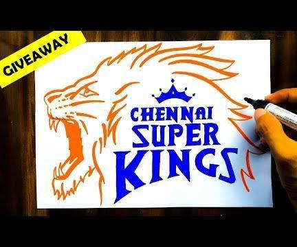 HOW TO DRAW CSK LOGO
