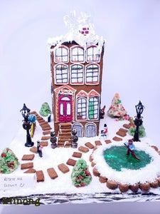 Gingerbread Apartment Building (Vegan)