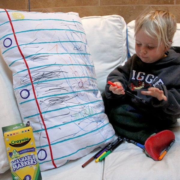 DIY (Design It Yourself) Doodle Pillowcase