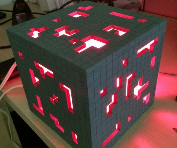 Super Solid Minecraft Redstone Lamp
