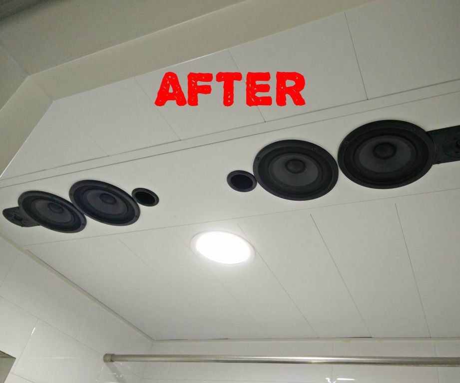 stereo graded bathroom bluetooth speaker system