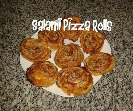 Salami Pizza Rolls Recipe