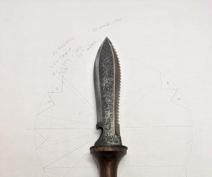 Sheath for a Hori Hori Style Garden Knife.