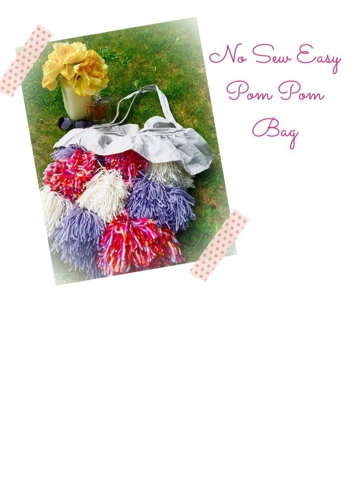 Easy Colorful Pom Pom Tote Bag