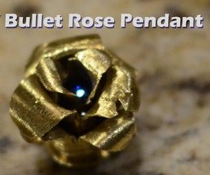 DIY Brass Bullet Casing Rose Pendant