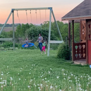 Free-standing A-Frame Swing Set