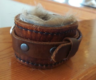Fur-lined Leather Wristband
