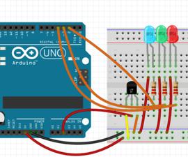 Arduino LED Temperature Indicator