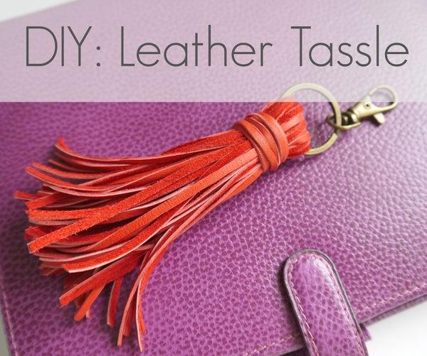 DIY Leather Tassle Bag Charm