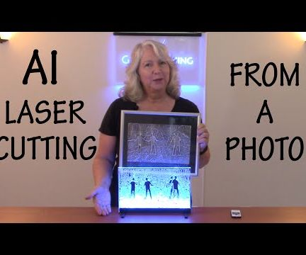 How to Laser Cut and Light an Llustration Based on a Photo