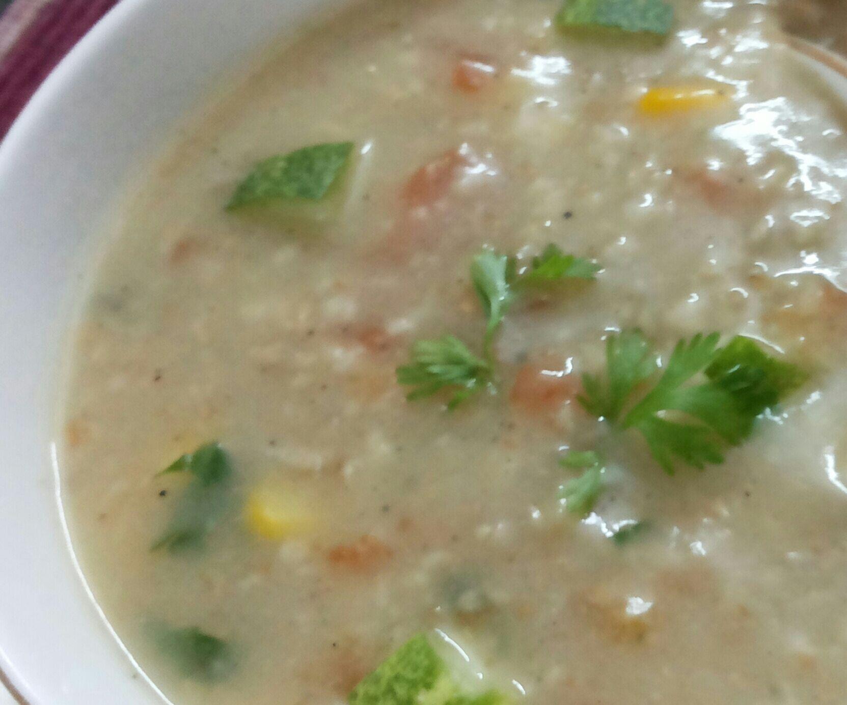 Healthy Chicken n oats soup