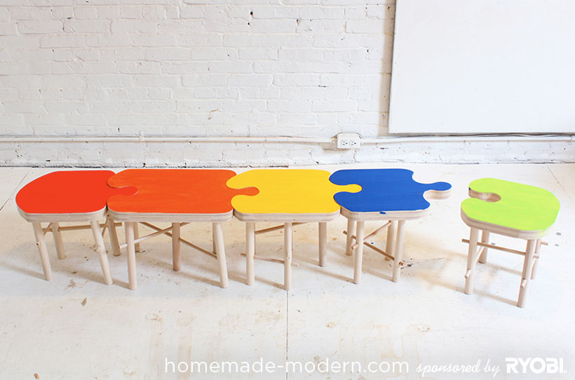 HomeMade Modern DIY Puzzle Stool