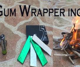 Battery + Gum Wrapper = Fire! (Video)
