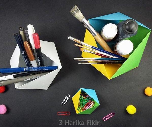 Diy Origami Organizer Box Without Glue