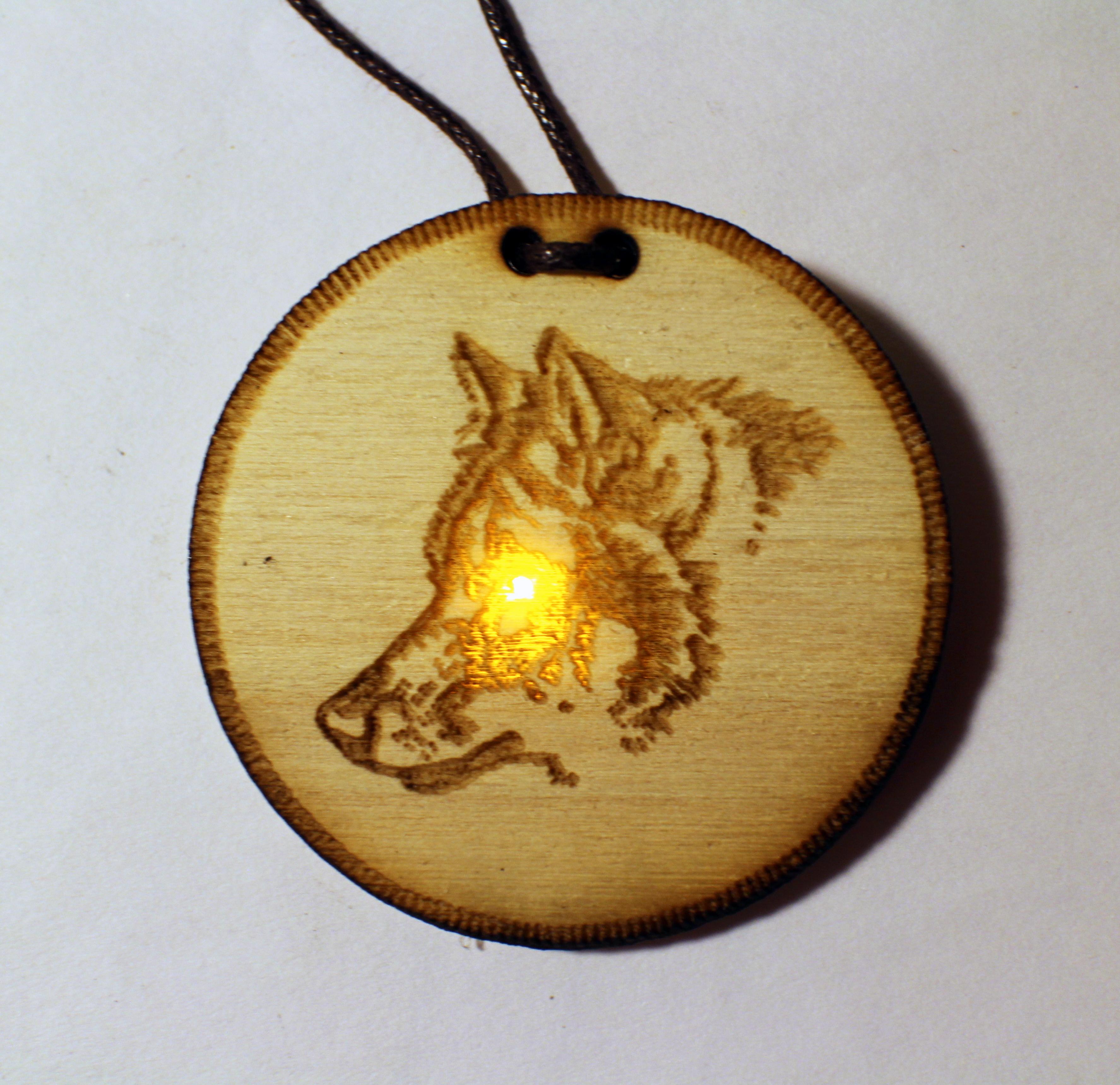 Thin Profile Light-up Animal Pendant