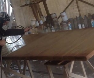 Sanding and Painting Furniture With a Spray Gun