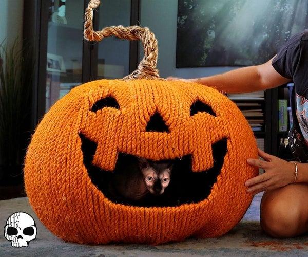 DIY Halloween Cat House