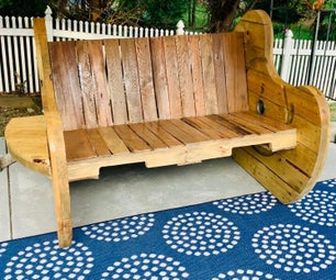 Cable Spool Pallet Bench - DIY Outdoor Seating!