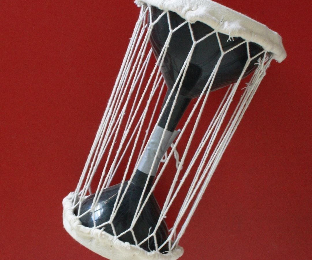 Make a Talking Drum Out of Funnels : 6 Steps (with
