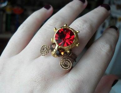 Shank Button Statement Ring