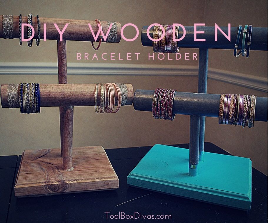 DIY Wooden Bracelet Holders