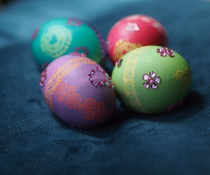 Dying & Decorating Easter Eggs With Stickers