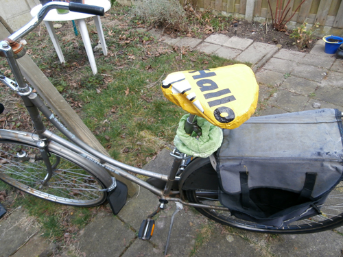 Saddlecover from an old Big-shopper