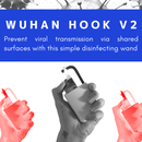 Wuhan Hook V2: Simple Self-Disinfecting Wand to Prevent Viral Transmission