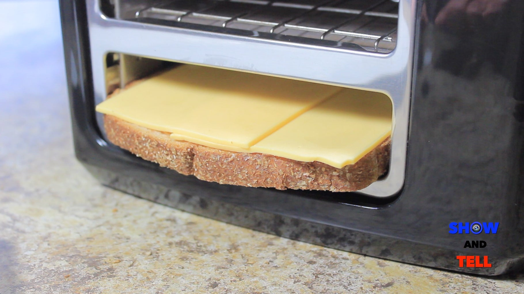 Put the Slices in the Toaster.