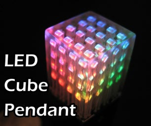 LED Cube Pendant - Worlds Smallest LED Cube