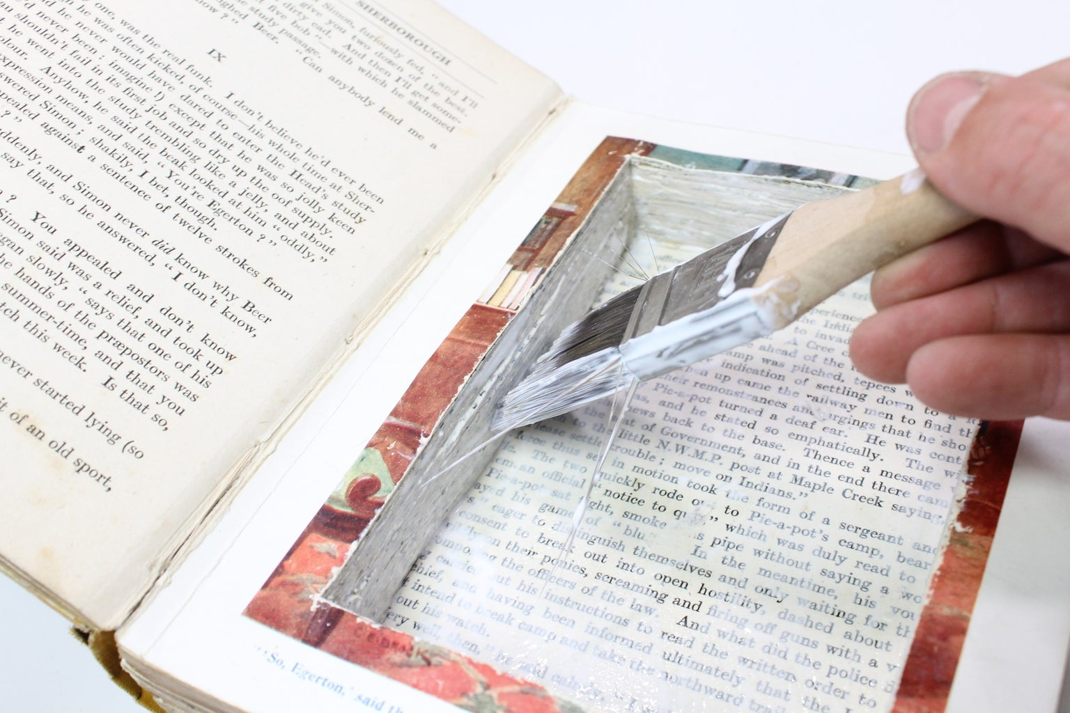 Gluing the Inside Pages Together