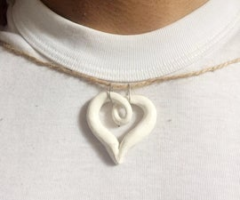 Carve a Stone Into a Pendant   Heart Shaped Pendant