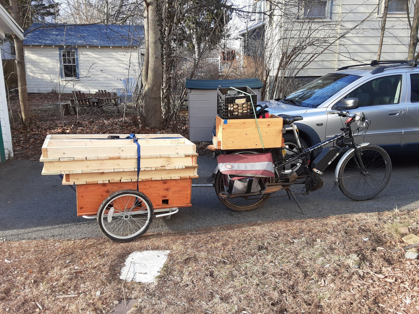 Getting the Pallets to the Trail