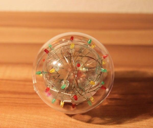 Flashing LED Ball With Saline Water
